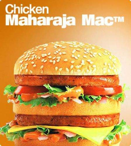 印度:Chicken Maharaja Mac